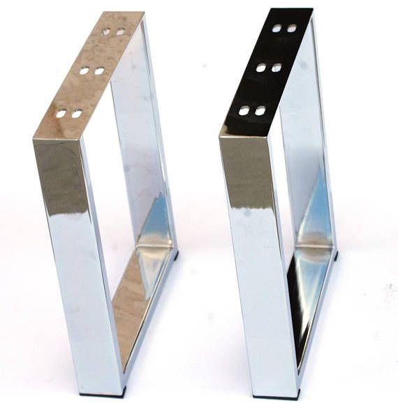 16 Modern Chrome Frame Furniture Leg Coffee Table Leg Metal Leg 2pc Diy Made Easy Flexible Affordable Metal Table Legs Metal Furniture Legs Table Legs