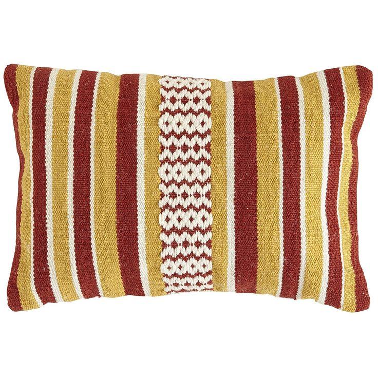 Throw Pillow Pier One : Woven Stripe Lumbar Pillow - Warm Pier 1 Imports My Dream House Pinterest Pillows, Throw ...