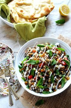 Indian Spiced Rice & Lentil Salad. Forget the same old pasta salad for your next potluck. This flavorful rice salad is going to be a hit. Plenty of fresh ingredients keep it bright, while garlic, jalapeno, ginger, and spices give it depth that everyone's going to love.   hostthetoast.com