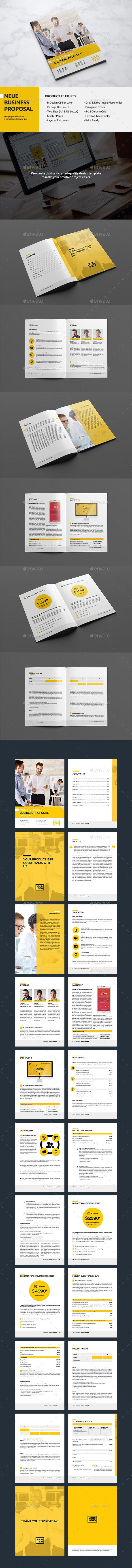 Neue - Website #Proposal - Proposals & #Invoices Stationery Download here: https://graphicriver.net/item/neue-website-proposal/12984465?ref=alena994