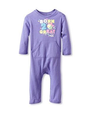 72% OFF Fila Baby Coverall (Purple)