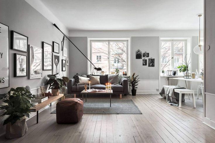 Apartment in Stockholm by Scandinavian Homes   #parquet #lumineux #intérieur #interior #intérieur #design #déco #décoration #deco #decoration #home #appartement #homesweethome #style #bois #chic #pure #calme #couleur #carresol #inspiration #architect #architecture #living #homedecor #beautiful #chaleureux