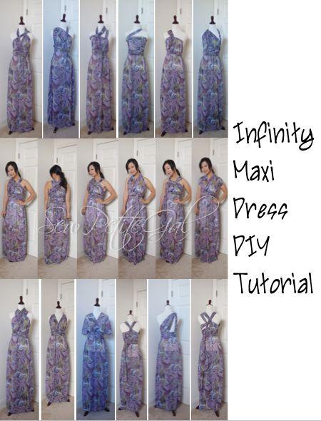 Easy Infinity Maxi Dress DIY Tutorial