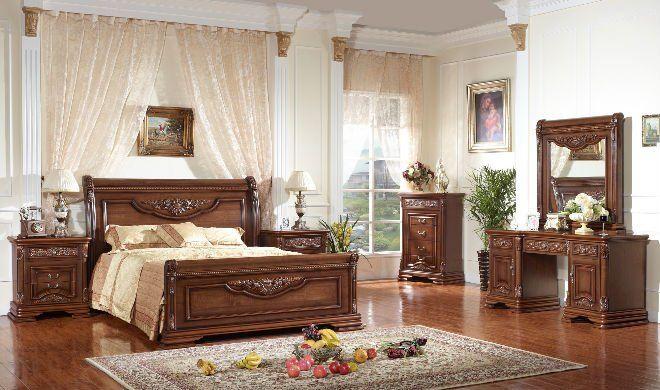 Home Furniture European Bedroom Set Classical Theme Classic