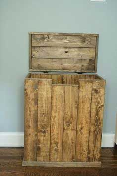 Image result for wooden garbage can holder