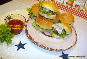 Mini hamburger di Leonardo   la cuoca in giallo