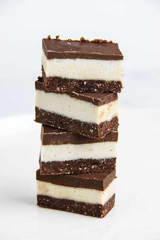 Raw Peppermint Chocolate Slices