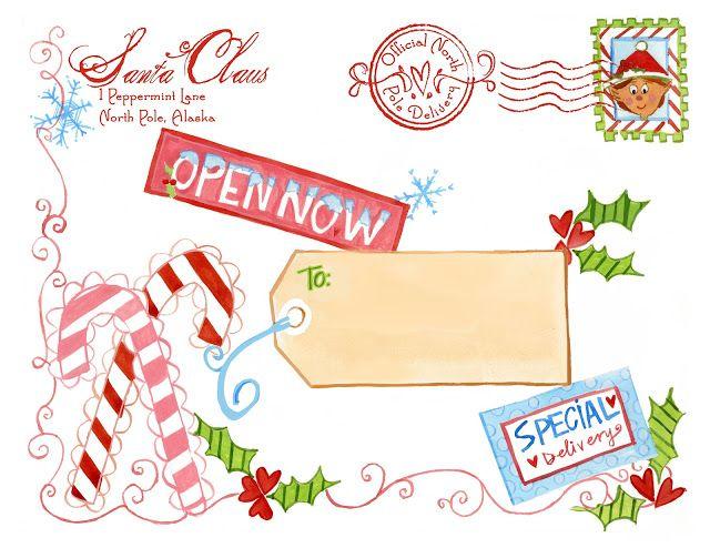 FREE printable North Pole Special Delivery Printable {from Santa} - Design Dazzle