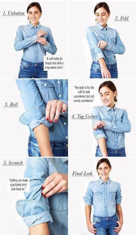 Get a great shirt cuff every time. | 41 Insanely Helpful Style Charts Every Woman Needs Right Now
