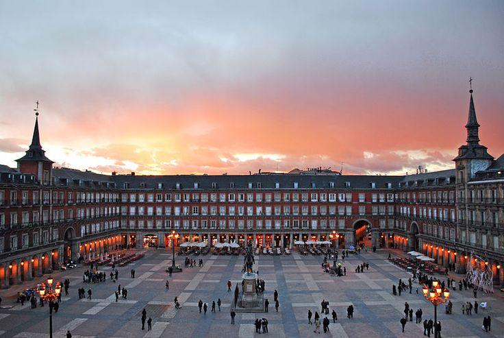Plaza Mayor de Madrid. España