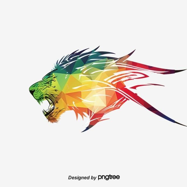 Lions Triangle Vector Lion King Triangle Clipart Vector Lions Lion Png Transparent Clipart Image And Psd File For Free Download Colorful Lion Lion Illustration Tribal Lion