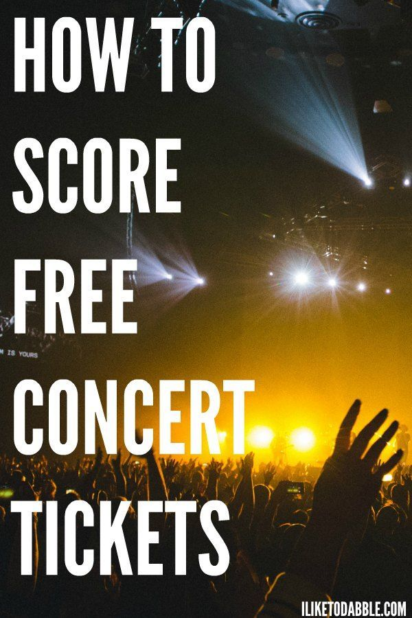 I bet you didn't even think it was possible to score free concert tickets besides maybe with your local radio station. There are tons of ways to score cheap and free concert tickets!: