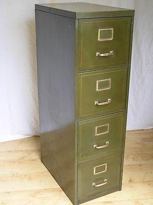 Art Deco Vintage Metal Drawers Filing Cabinet 1950u0027s 1940u0027s