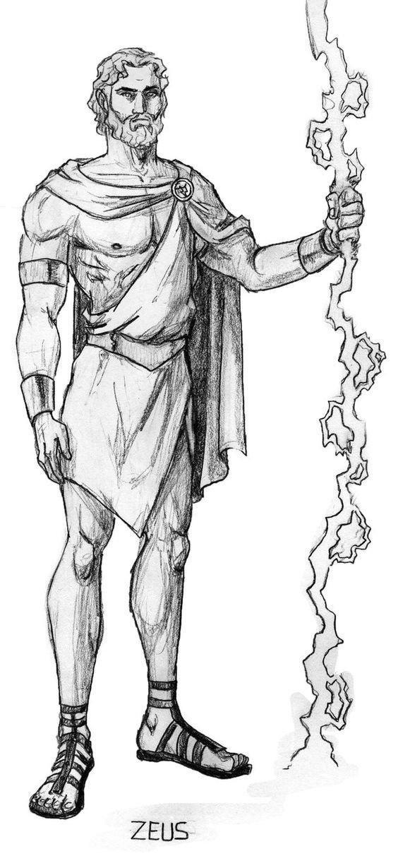 римские боги картинки карандашом дошел