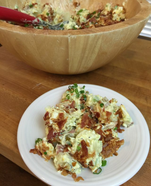 Southern Style Potato Salad with Bacon