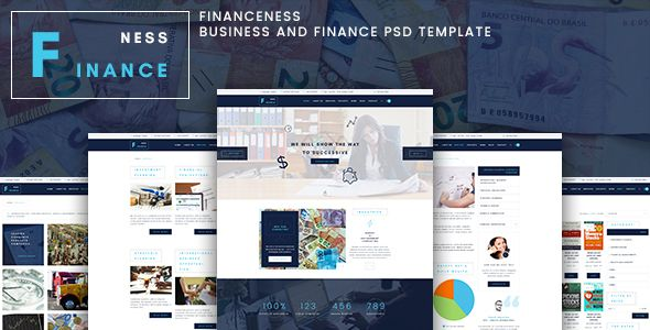Financeness - Business and Finance Consulting PSD Template - Business Corporate Template. Download here: https://themeforest.net/item/financeness-business-and-finance-psd-template/16510423?s_rank=24&ref=yinkira