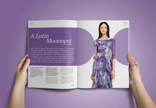 editorial magazine spreads for trend forecast magazine