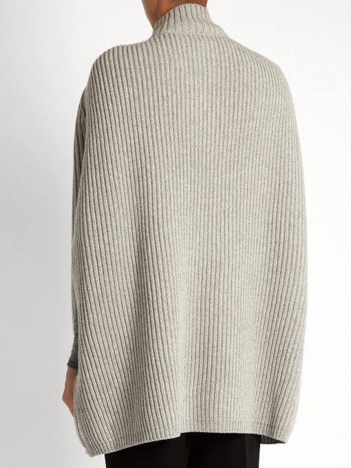 Max Mara Studio's light-grey wool and cashmere-blend Pola cape will make light work of cold-weather layering. It's spun for a slouchy fit with a close-fitting neck and a top-button fastening, and will look especially chic over a tonal roll-neck sweater. C