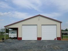 40 x 60 pole barn | 40' W x 60'L x 16'H With 12' Overhang