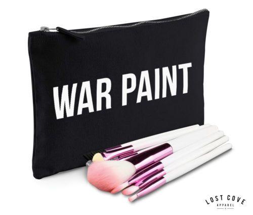 War-Farbe-Make-up-Tasche-Huelle-Reissverschluss-Geschenk-Kupplung-Lustig-Zubehoer