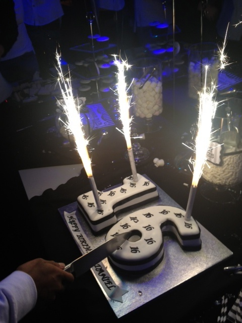 My Sons Sweet 16th Black And White Birthday Party