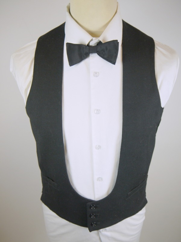 vintage original u shape collarless formal dinner suit