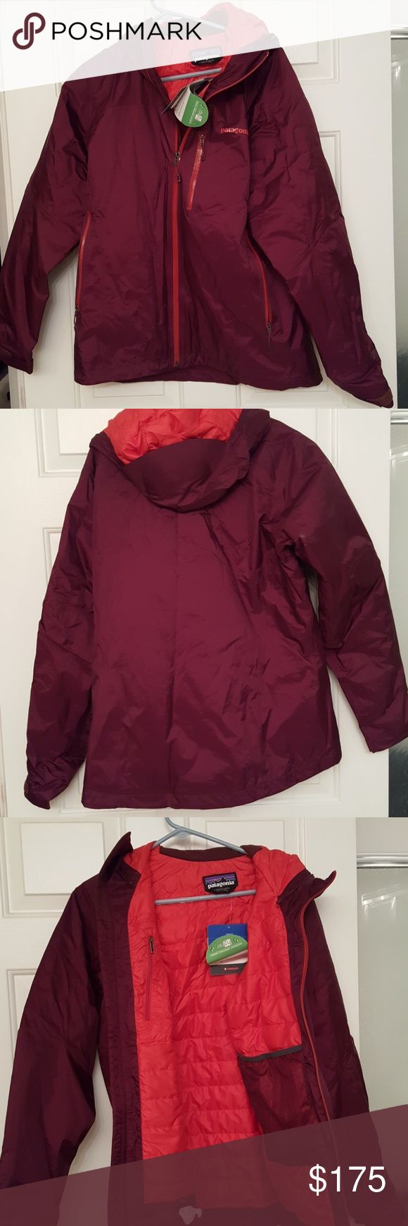 Patagonia insulated torrentshell jacket. NWT. Patagonia insulated torrentshell jacket. NWT. size large. burgundy and red. Patagonia Jackets & Coats