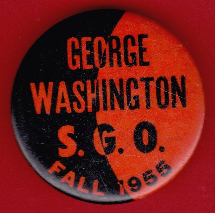 1955 GEORGE WASHINGTON High School NEW YORK CITY Alumni Badge Pin Pinback Button
