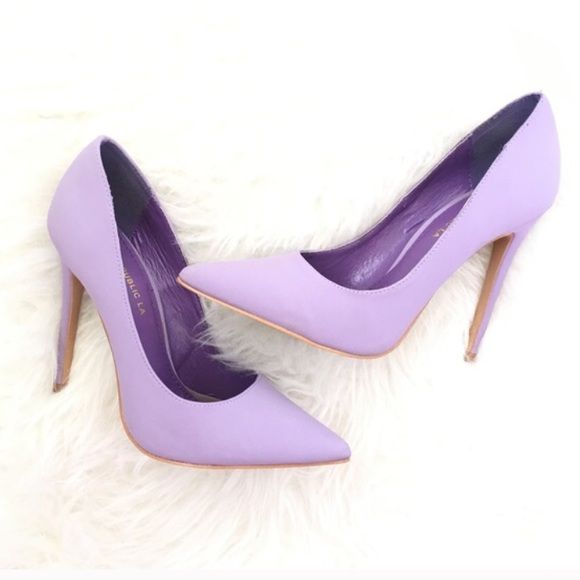 Lola Shoetique Lavender Heels Absolutely stunning lavender heels that were purchased from another posher. Worn twice ever! I never wore them. No Scuffs or scratches! No returns. You will love these for the summer! Photo shows color beautifully! Get them before they're gone. I've never seen a pair quite like them. Shoe Republica Shoes Heels