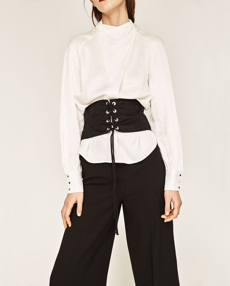 Zara High Neck Lace Blouse 11