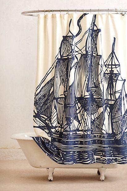 Elizabethan Sails Shower Curtain #anthrofave