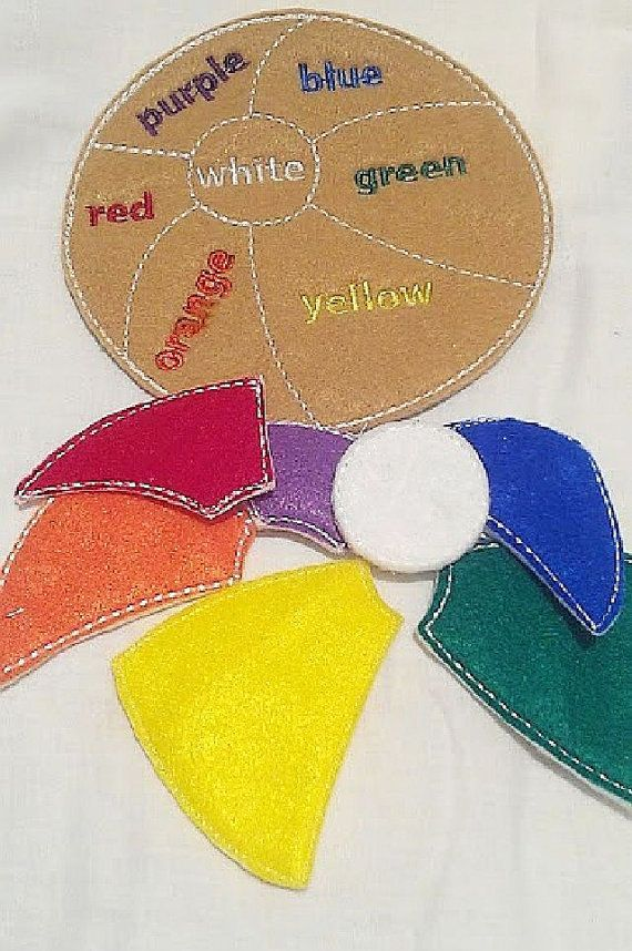 SALE Learn your colors flower game puzzle by itsthesmallthings #Quiet Book