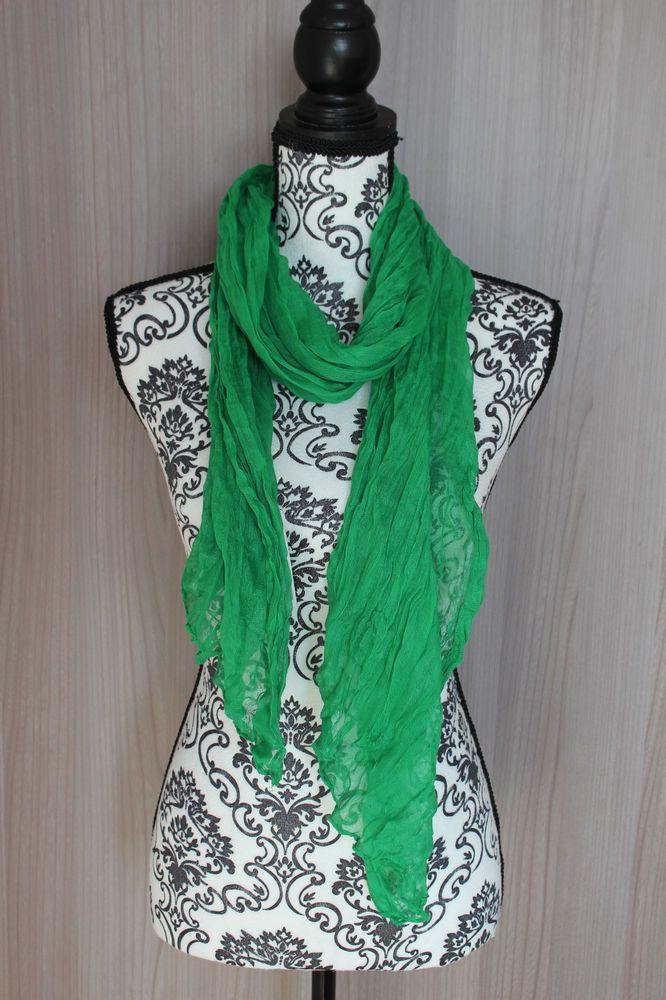 d51e85d9d12a Foulard femme couleur unie écharpe snood voile cheche chale vert menthe