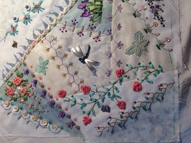 Crazy Quilting Stitches Patterns : 17 Best images about Quilts - Crazy Quilts on Pinterest Stitches, Crazy quilt patterns and Kitty