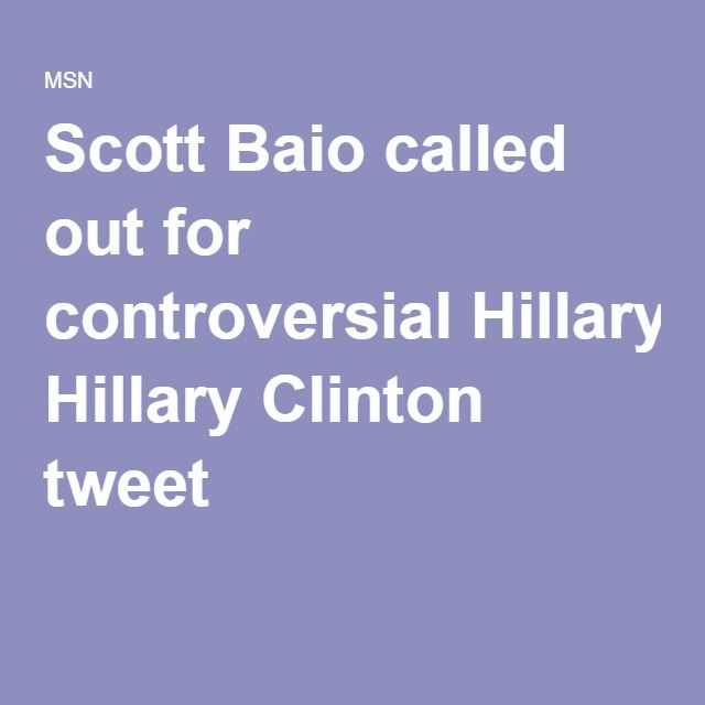 Scott Baio called out for controversial Hillary Clinton tweet