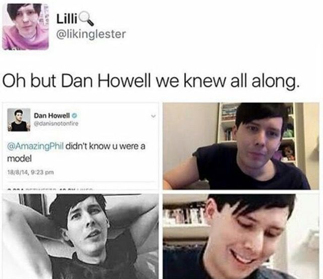 Phil could easily be a model. He's so tall and he's got unique looks with dem cheek bones