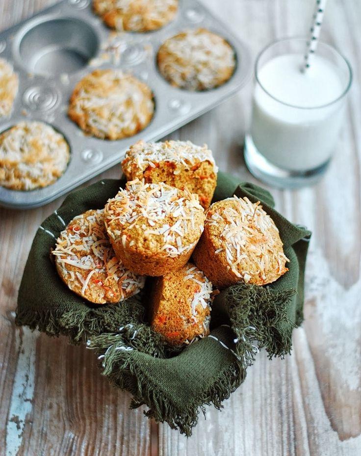 carrot orange coconut muffins