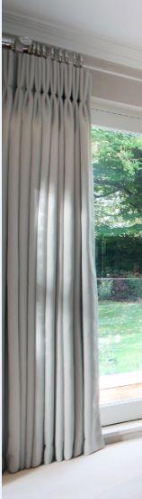 pespex pole and simple triple pleat curtains