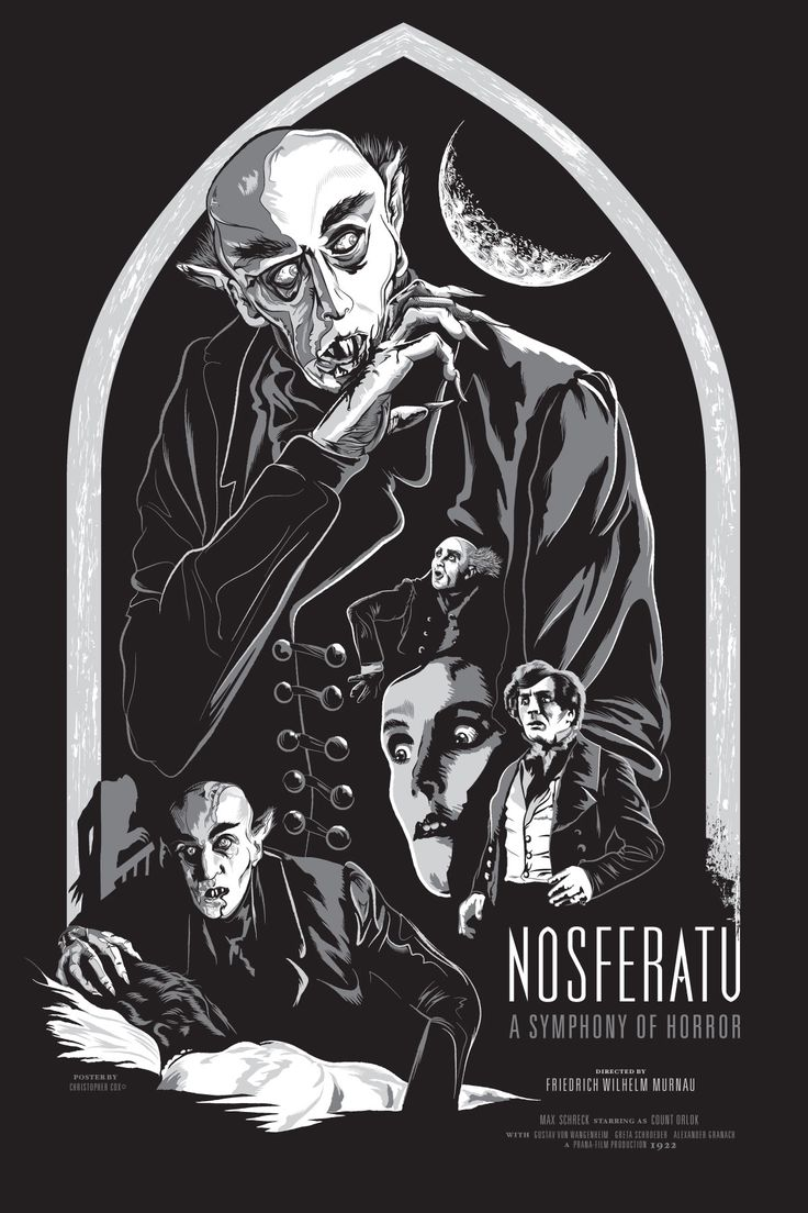"""Poster/art for """"Nosferatu, eine Symphonie des Grauens"""", directed by F.W. Murnau, 1922"""