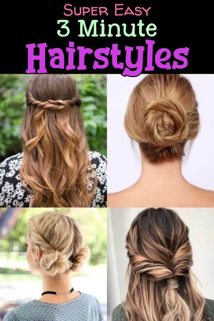 10 Easy Lazy Girl Hairstyle Ideas Step By Step Video Tutorials For Lazy Day Running Late Quick Hairstyles Lazy Girl Hairstyles Running Late Hairstyles Easy Everyday Hairstyles