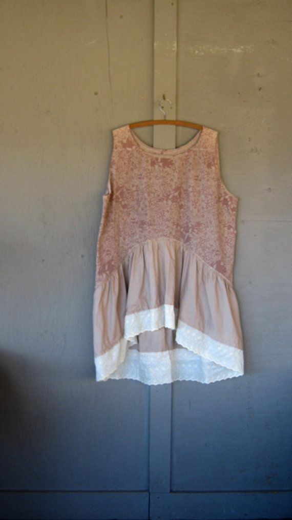 Bohemian summer dress upcycled clothing by lillienoradrygoods, $75.50