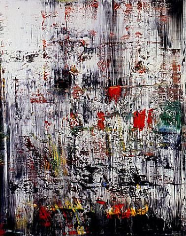 gerard richter- I believe this is the one that hung in the BAM awhile back- or it was one like this. I want to walk through this veil of colors.
