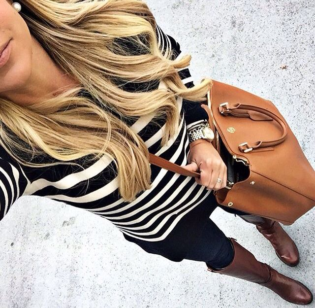 """My favorite navy stripe sweater is off today!"