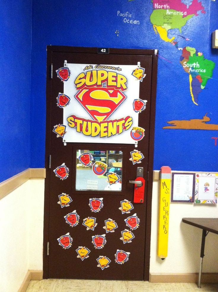 Classroom Ideas Superheroes ~ Best door decorations images on pinterest superhero