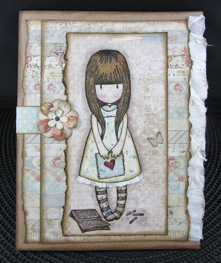 Scraps From A Broad: Gorjuss Girls Cards
