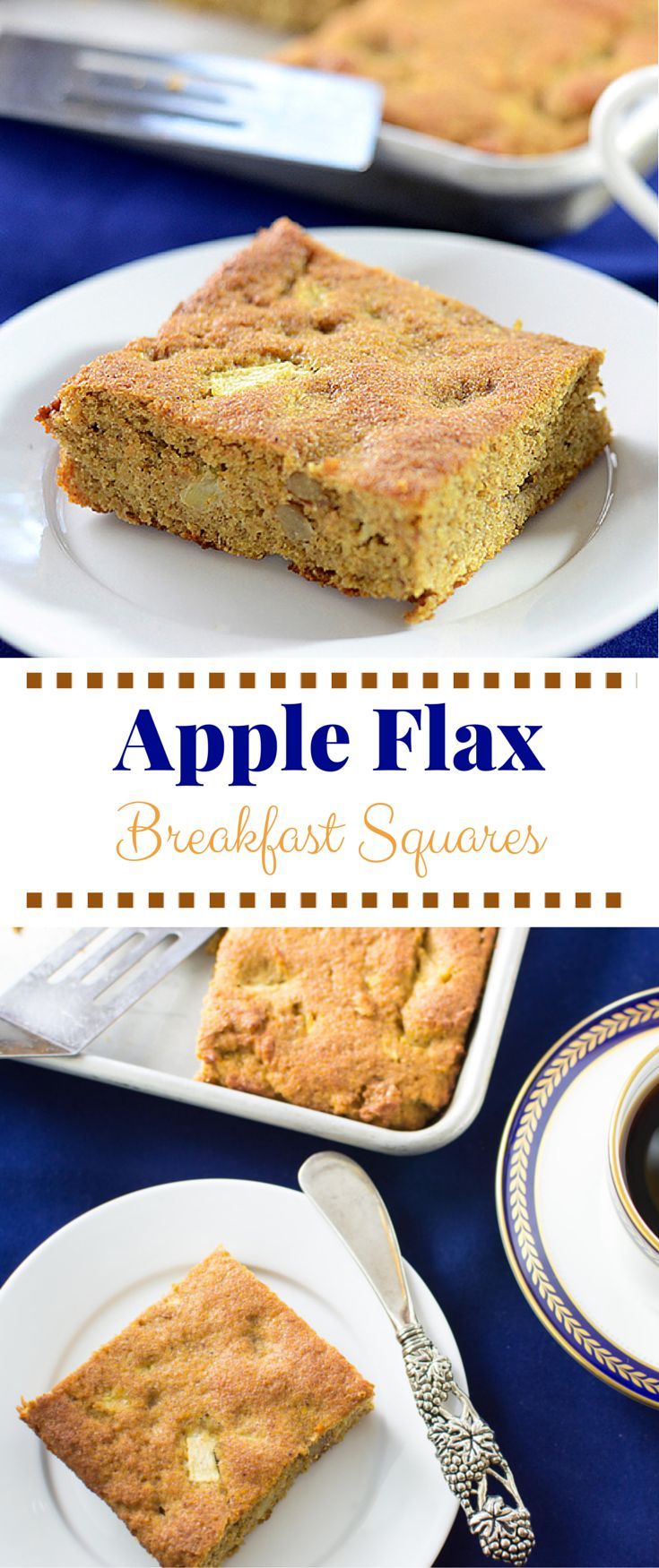 Apple Flax Breakfast Squares have 9g of protein, 9g of fiber and 5,600mg of…