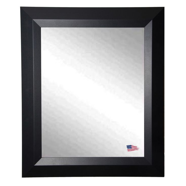 Rayne Mirrors Contemporary Matte Black Wall Mirror | from hayneedle.com