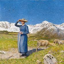 Bild von Giovanni Segantini - er malte viele Bilder vom Engadin - lebte in Savognin und Maloja - he loved Switzerland!