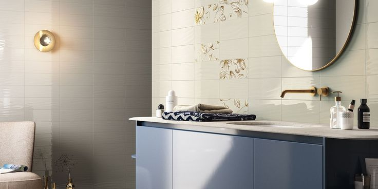 WAVE Tiles, bathroom modern ceramic double-fired wall tile [AM WAVE 4]