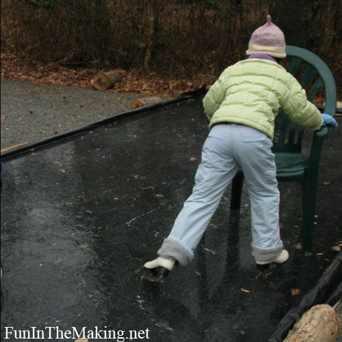 tutorial on how to make your own ice skating rink for your kiddos! | Clever  ideas | Pinterest | Ice, Backyard ice rink and Ice rink - Tutorial On How To Make Your Own Ice Skating Rink For Your Kiddos